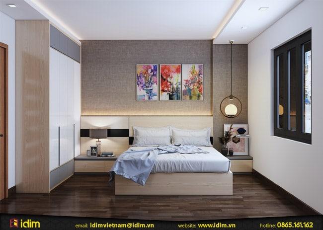 Căn phòng ngủ đơn giản, nhỏ đẹp hiện đại