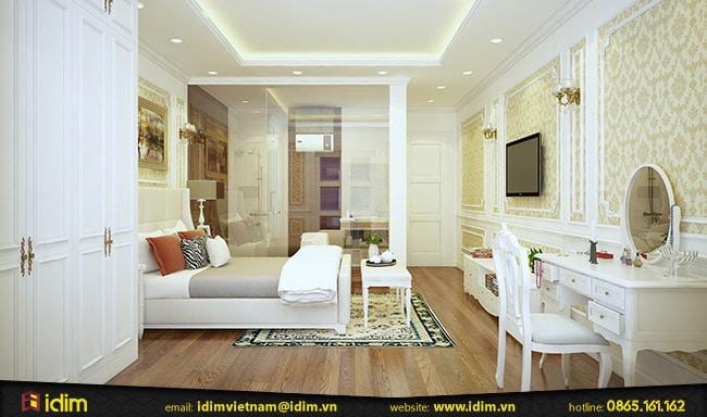 Mẫu thiết kế nội thất phòng ngủ 30m2 tiện nghi, thoải mái