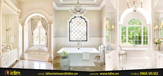 Thiết kế phòng tắm tân cổ điển